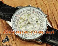 Мужские механические часы Breitling Navitimer Black White Leather