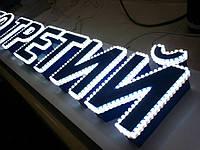 Объемные буквы с подсвеченным периметром