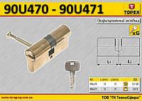 Цилиндр для замка 62мм(31/31), 6 ключей,  TOPEX  90U471, фото 1