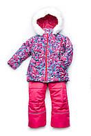 Зимний детский костюм (куртка и полукомбинезон) для девочки из мембранной ткани (03-00665-0)