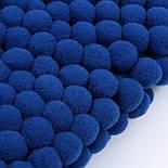 Тасьма з помпонами 20 мм темно-синього кольору (Польща), фото 3