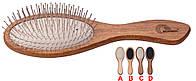 Gorgol. Расческа овальная массажная 11 рядов железных зубцов.