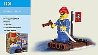 """Конструктор """"Пираты: Плот"""" 34 детали Brick - 1201"""