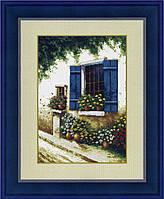 Набор для вышивания крестом «Горшки с цветами у окна» DOME 100113