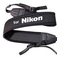 Плечевой шейный ремень для фотоаппаратов NIKON (неопрен)
