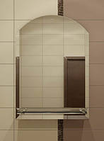 Зеркало с полкой  для ванной 70х55 см
