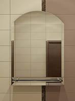 Дзеркало з полицею для ванної 70х55 см