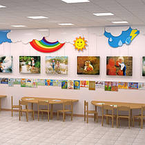 Композиции для выставки детских рисунков