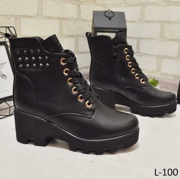 79aee248a Ботинки женские деми черные на среднем каблуке,демисезонные,весенние,  осенние,весна,осень