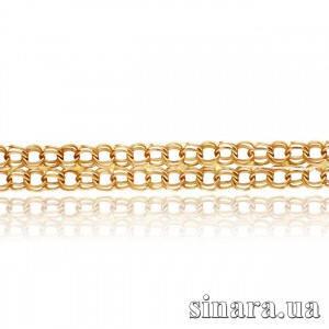 Золотой браслет Бисмарк двойной 78