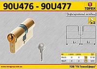 Цилиндр для замка 62мм(31/31), 3 ключа,  TOPEX  90U476