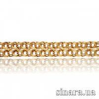 Золотой браслет Бисмарк широкий 3627