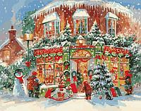 Картина по номерам Новогодний городок  40х50см Идейка KH3533(в подарочной коробке)
