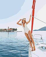 Картина по номерам Прогулка на яхте  40 х 50 см Идейка KH4525(в подарочной коробке)
