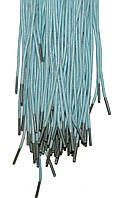 Шнурки Голубые пропитанные круглые 100см