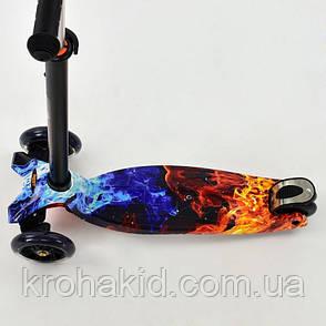 """Самокат трехколесный MAXI """"Best Scooter"""" А 24665/779-1314, свет. колеса PU, трубка руля алюминиевая, фото 2"""