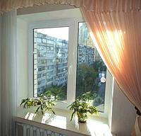 Пластиковое окно Рехау 70 с монтажом 1200 х 1400 мм