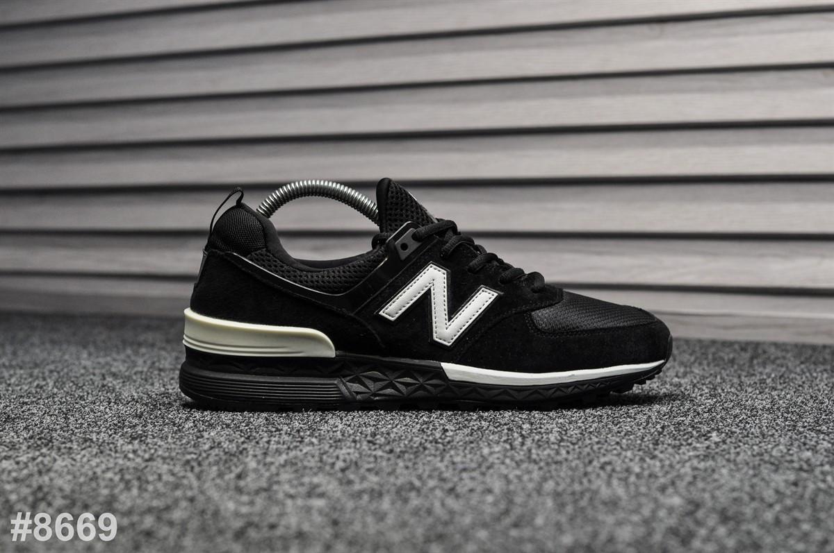 Мужские кроссовки 574 Sport Edition Black, Реплика