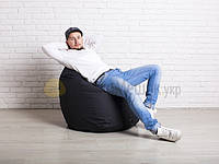 Кресло мешок груша | чёрный Oxford