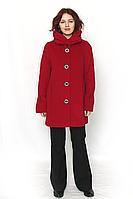 Пальто женское кашемировое красное / пальто жіноче червоне