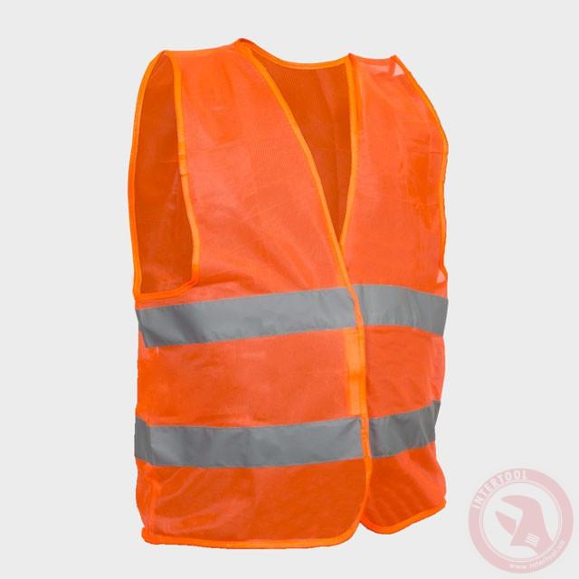 Жилет сигнальный оранжевый XL (60*70см), 100 гр/м2 Intertool SP-2024