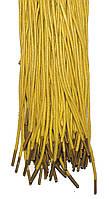 Шнурки Темно желтые пропитанные круглые 100см