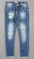 Джинсовые брюки для девочек S&D оптом, 8-18 лет., фото 1