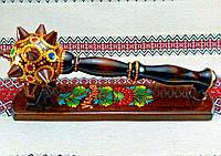 Булава козацька розписна сувенірна (Булава сувенирная казацкая расписная 33 см) - виріб з дерева ручна робота