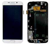 Дисплей Samsung Galaxy S6 G925F EDGE Original 100% (Service Pack) with frame White