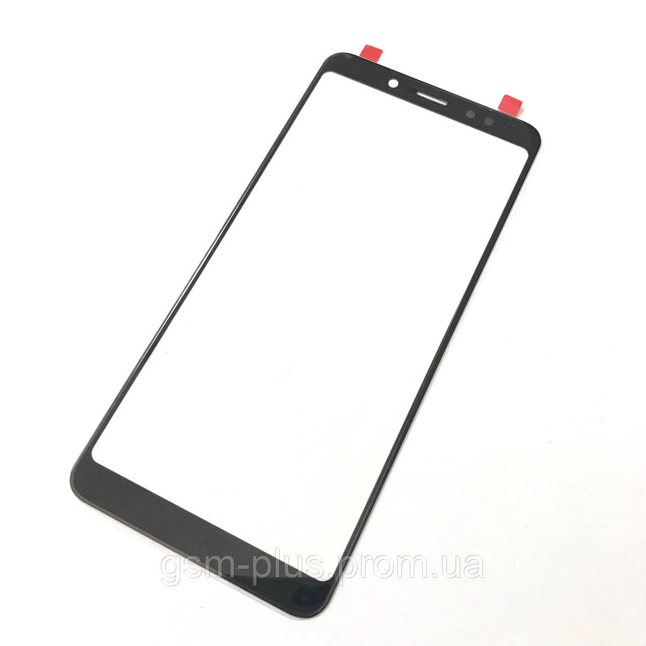 Стекло дисплея Xiaomi Redmi Note 5 / Redmi Note 5 Pro Black (для переклейки)