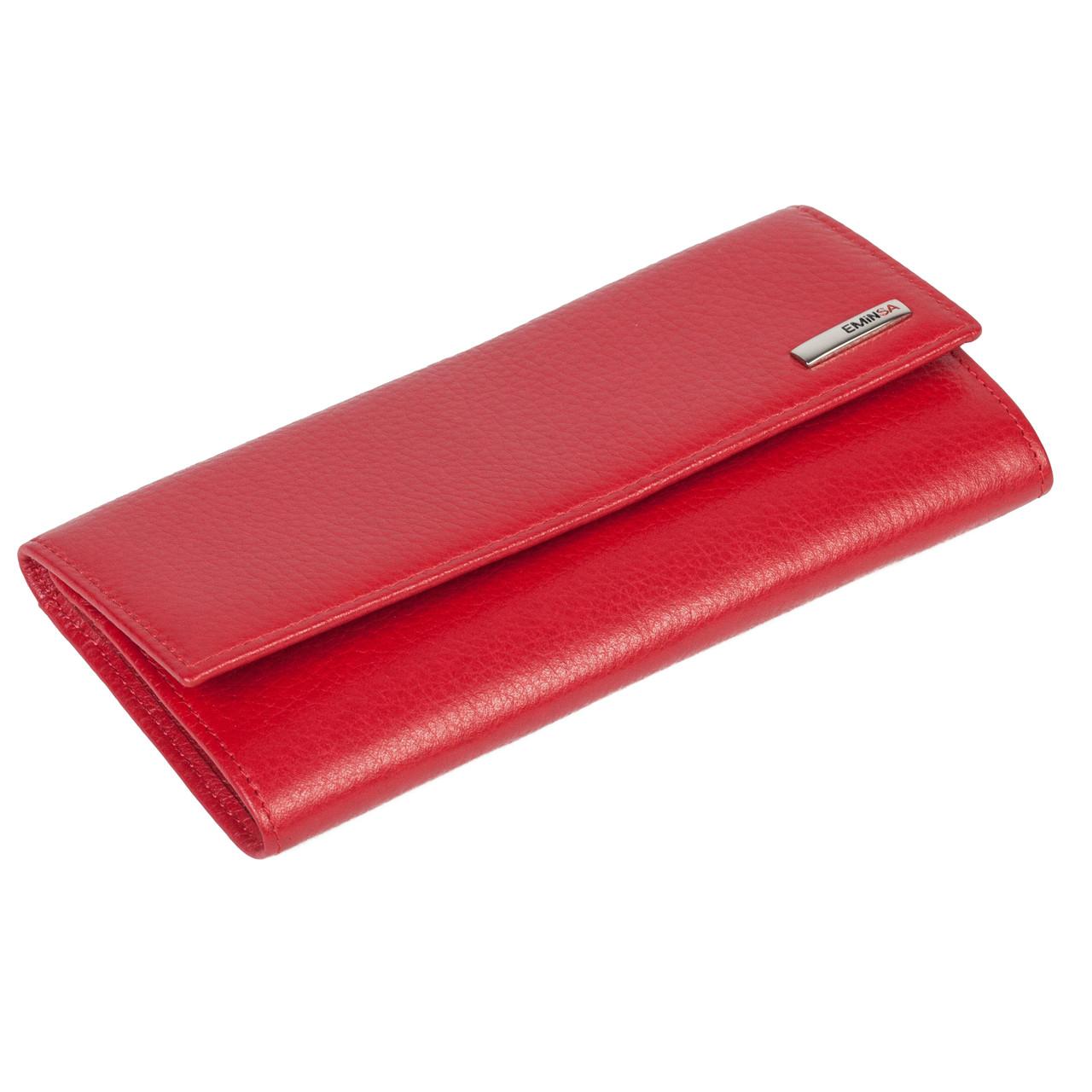 Женский кошелек Eminsa 2060-18-5 кожаный красный