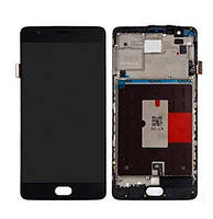 Дисплей OnePlus 3 / 3T complete with frame black (TFT)