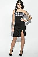 Платье женское, облегающее с бретелькой на одном плече 78P0010 (Черный)