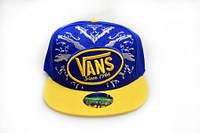 Кепка с прямым козырьком Vans yellow-blue