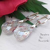 Ювелирное изделие из серебра с кристаллами Сваровски в цвете Moonlight
