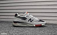 Чоловічі кросівки 998 Gray Navy Red, Репліка, фото 1