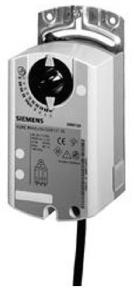 Siemens GDB164.1E, 5 Nm, без возвр. пружины, 0-10 В, 24 В AC, настройка старта, 2 доп.контакта