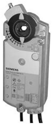 Siemens GBB166.1E, 25 Nm, возвр. пружина, 0-25 В, 24 В AC/DC, 2 доп.контакта