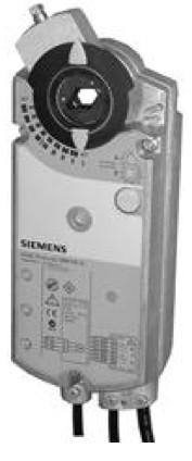 Siemens GIB166.1E, 35 Nm, возвр. пружина, 0-35 В, 24 В AC/DC, 2 доп.контакта
