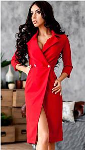 Красное платье-пиджак Gloria