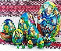 Эксклюзивный подарок Пасхальное яйцо-матрешка, ручная работа, авторская роспись, высота 20 см диаметр 11,5см