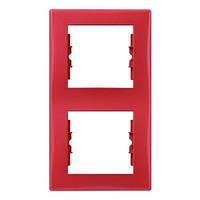Рамка двухместная вертикальная Красный Schneider Sedna (sdn5801141), фото 1