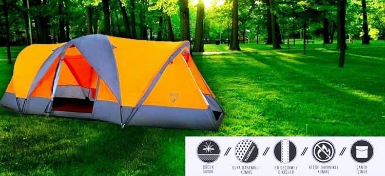 Палатка туристическая Четырехместная Bestway 68003 Traverse 480х210х165 см