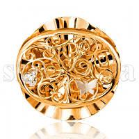 Золотая подвеска Бабочка 4051