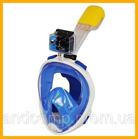 Подводная маска для плавания и сноркелинга Easybreath Голубая BLUE