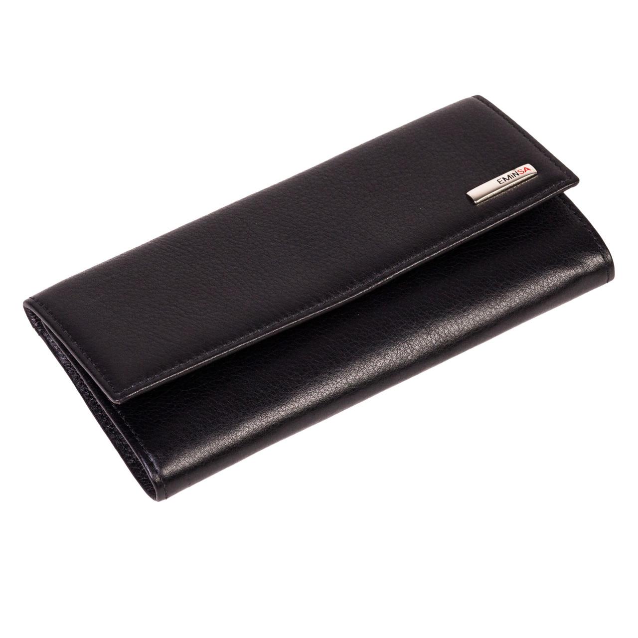 Женский кошелек Eminsa 2060-12-1 кожаный черный