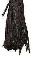 Шнурки Темно коричневый пропитанные плоские 100см