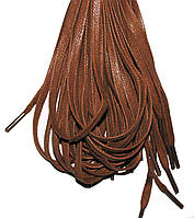 Шнурки Рыжий, светло коричневый пропитанные плоские 100см