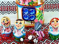 """Дитяча іграшка """"Хатка""""  (Авторская художественная роспись в украинском стиле, игрушка-домик, дерево, 14см)"""