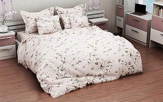 Евро комплект постельного белья 198х215  «Ранняя весна» из бязи голд